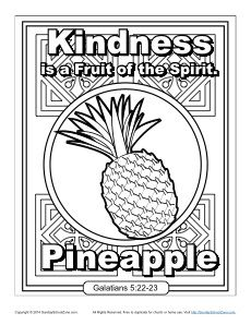 Fruit Of The Spirit For Kids Kindness Coloring Page Fruit Of The Spirit Fruit Fruit Party