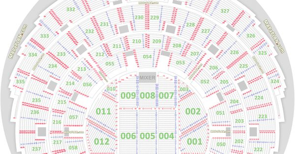 detailed seat numbers chart with rows and blocks layout. Black Bedroom Furniture Sets. Home Design Ideas