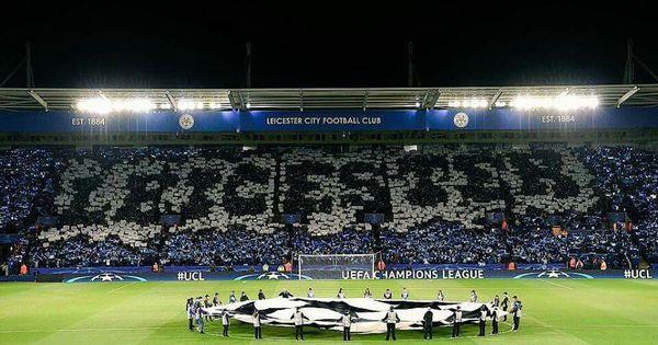 Leicester City X Copenhague Mosaico Da Torcida Do Leicester No Jogo De Hoje Pela Champions League Estadios Del Mundo Champions Jornada