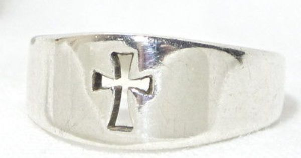 James Avery Gorgeous Mens Cross Sterling Silver 925 Ring