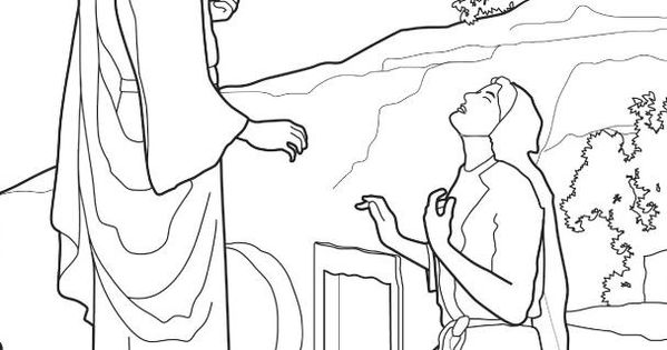 mary martha lazarus coloring pages | Lazarus Tomb Coloring Page Coloring Pages