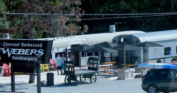 Used Cars Orillia >> Weber's Burgers on Highway 11 near Orillia, Ontario, Canada has a number of old rail cars from ...
