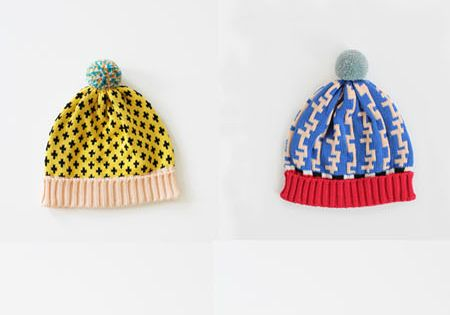Colorful knitted hat inspiration