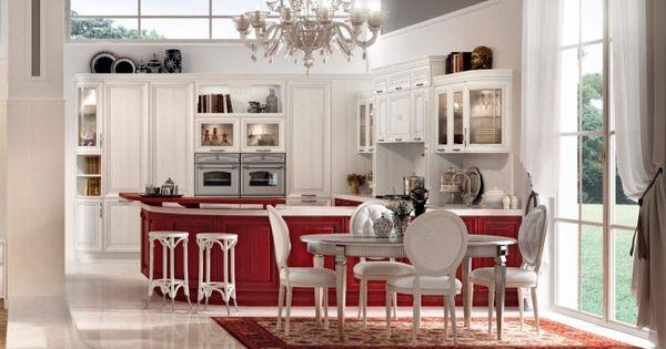 Ideal luxus k che rot wei Marmorboden luxus Hochglanz Oberfl chengestaltung Wohnideen Pinterest Hochglanz Luxus und K che