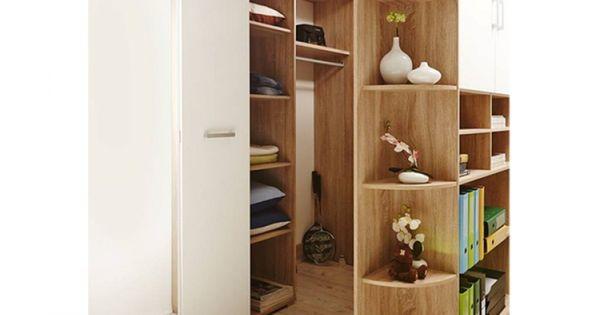 begehbarer kleiderschrank corner 2 t rig eiche sonoma wei ideen rund ums haus pinterest. Black Bedroom Furniture Sets. Home Design Ideas