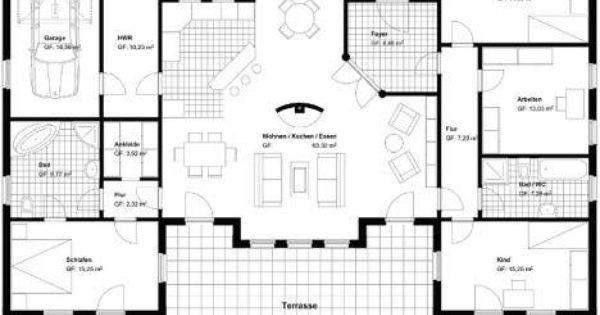 U Form | Häusle bauen | Pinterest | Bungalows