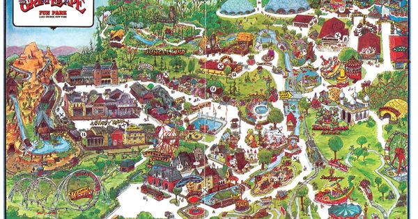 The Great Escape 1980s Theme Park Maps Pinterest