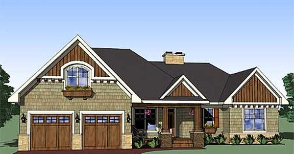 Plan 14565rk Attractive 3 Bedroom Rambler Porch House