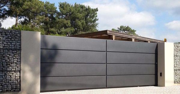 portail alu lucco pinteres. Black Bedroom Furniture Sets. Home Design Ideas
