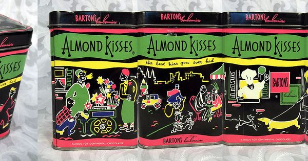 Sold Vintage Barton S Candy Almond Kiss Tin Container Brooklyn Ny