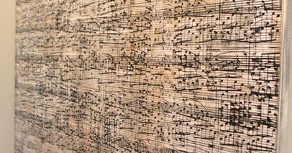 DIY sheet music wall art~ must DO!