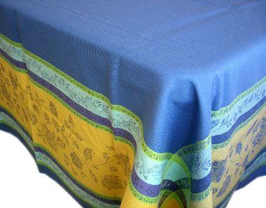 Jacquard Tablecloth Teflon Marat D Avignon Arles Blue Yellow