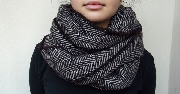 Super Warm Infinity Scarf Wool Blend