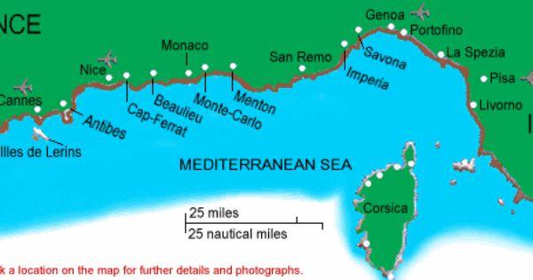 French Riviera Cote D Azur Mediterranean Sea Rome To St Tropez