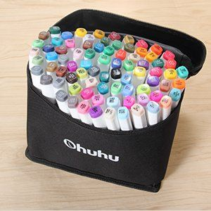 Highlighter Pen Sketch Markers for Drawing Sketching Adult Coloring Dual Tip Alcohol Marker 40 Colors Art Markers Permanent Art Markers for Kids Bonus 1 Colorless Blender Alcohol-Based Markers