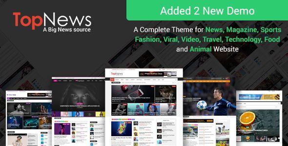 Topnews News Magazine Newspaper Blog Viral Buzz Wordpress Theme Magazine Theme Wordpress News Magazines Best Website Templates