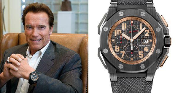 Arnold schwarzenegger and the audemars piguet royal oak offshore arnold schwarzenegger the for Celebrity wrist watches