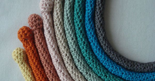Pdf Crochet Pattern Crocheted Tube Necklaces Crocheted By