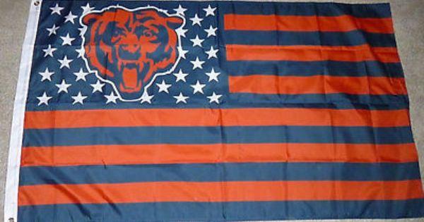 Chicago Bears Nation Flag Banner Chicago Bears Chicago Bears Football Chicago