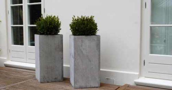 Blumenkübel \'Block\' aus Faserbeton | Garden | Pinterest ...