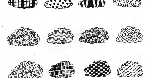 Happy Clouds Doodles ~Anna Vives