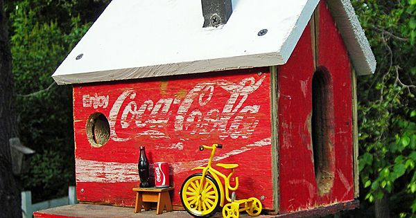 Coca Cola Barn Birdhouse