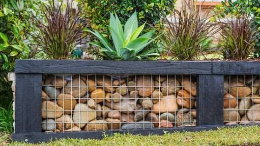 Image Result For Gabion Fence Post Diy Retaining Wall Garden