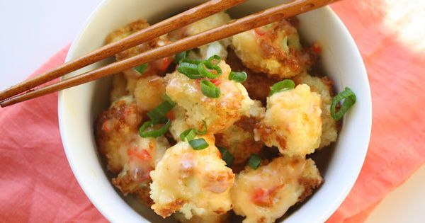 "YES.. ""Bang Bang Cauliflower"". A delicious alternative to Bang Bang Shrimp from"
