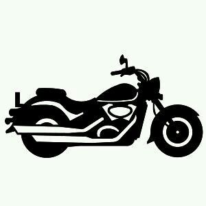 Harley davidson svg. Printable silhouette art