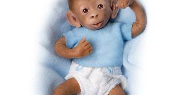 Ashton Drake So Truly Real Lifelike Baby Monkey Doll By