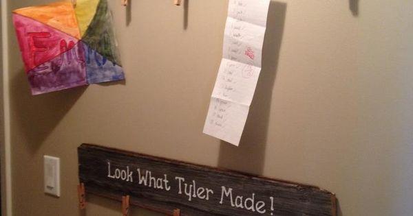 Wooden child's art displays