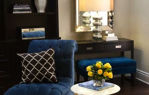 Turquoise La Royal Blue Chocolate Brown Chic Living