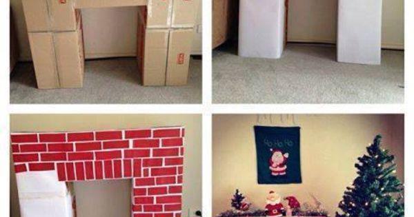 kamin aus kartons crafts pinterest karton weihnachten und schaufenster. Black Bedroom Furniture Sets. Home Design Ideas