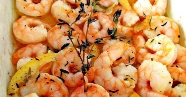 Roasted Lemon Garlic Herb Shrimp Scampi | Recipe | Lemon ...