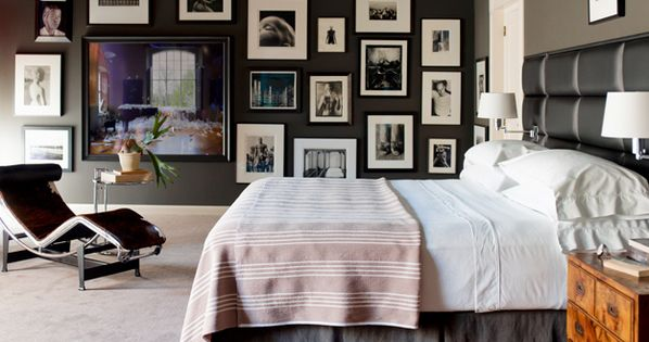 A Master Bedroom Gallery Wall- interior design art installation artwall gallery artcollection