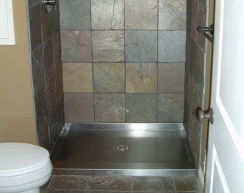 Stainless Steel Shower Floor Pan.Galvanized Shower Pan Custom Showers Stainless Steel And