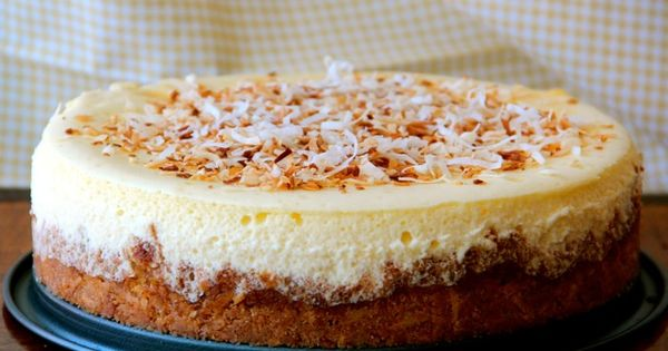 Coconut Cheesecake - Yum! Made with Coconut crust and coconut milk AND