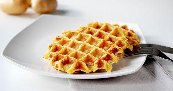 Dishes, Potato waffles and Waffles on Pinterest