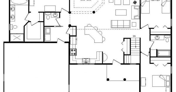 Unique open floor plans custom log home timber frame for Reverse living beach house plans