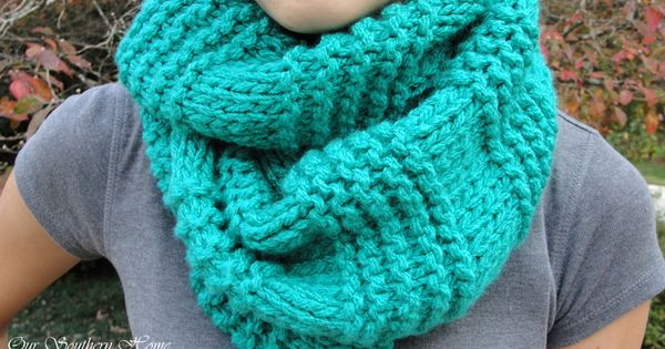Quick Amp Easy Knitted Infinity Scarf Stockinette And Infinity
