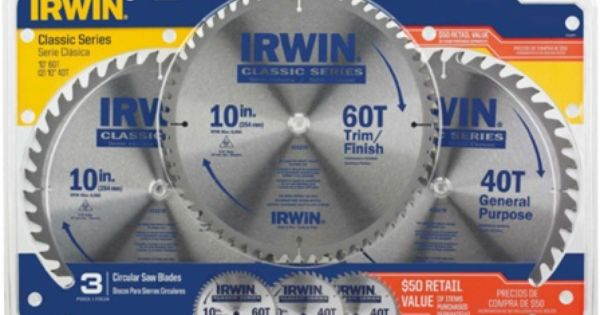 Irwin Recalls 10 Inch Circular Saw Blade 3 Pack Due To Laceration Hazard Posed By Defective Packaging Circular Saw Blades Saw Blade Circular Saw