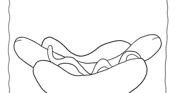 hot dog coloring page Google