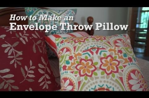 Throw Pillow Liners : How to Projects from Sailrite. Scroll down for instructions on making an Envelope Throw Pillow ...