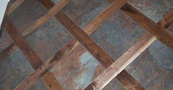 A Custom Tile Amp Wood Mixed Floor Good Idea For