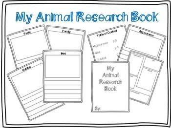 Animal Research Template Freebie Kindergarten Writing