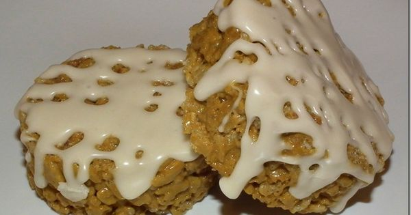 Cinnamon Roll Rice Crispy Treats!