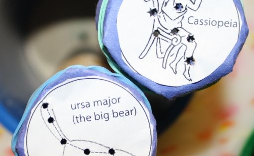 Build Your Own Constellation Viewers - great astronomy lesson/activity for kids!