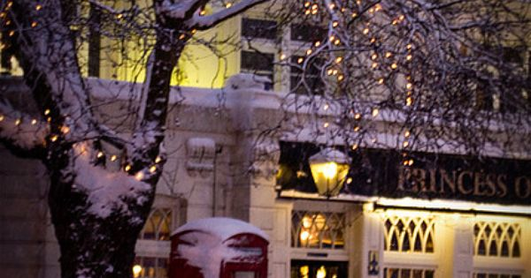 Snowy day, Princess of Wales Pub, London Megan Miller
