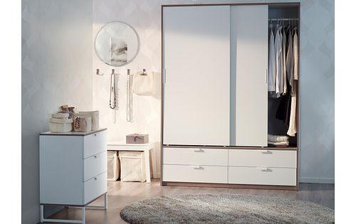 trysil schrank mit schiebet ren 4 schubl wei hellgrau ikea new living pinterest. Black Bedroom Furniture Sets. Home Design Ideas