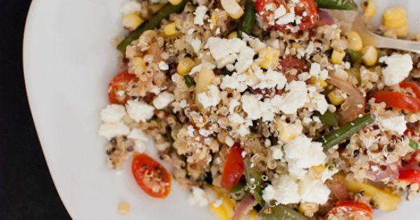 Blackened Green Bean and Quinoa Salad | Recipe | Quinoa Salad, Green ...